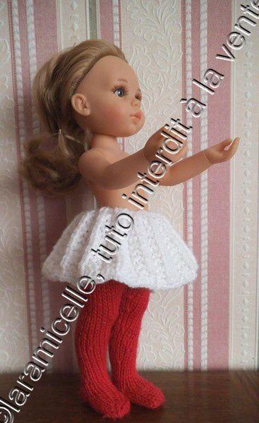 tuto gratuit poupée : jupe blanche