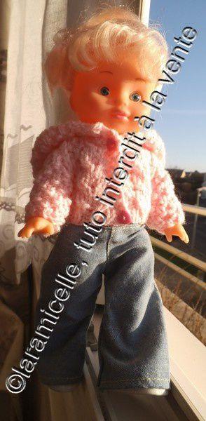 tuto gratuit poupée: blouson décontracté à capuche