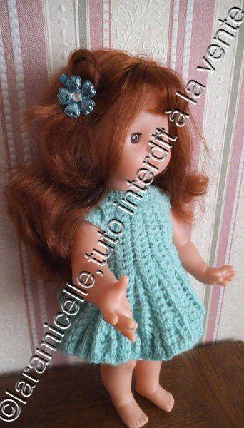 tuto gratuit poupée : robe circulaire ajourée