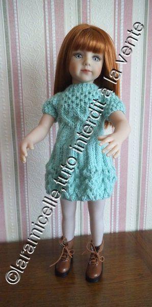 tuto  gratuit poupée : robe automnale à  reliefs