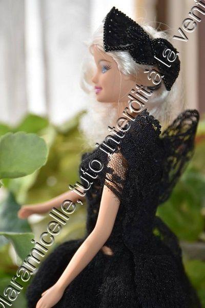 tuto gratuit barbie : robe papillon de nuit
