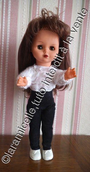 tuto gratuit poupée: veste fantaisie sans devant, et longues manches