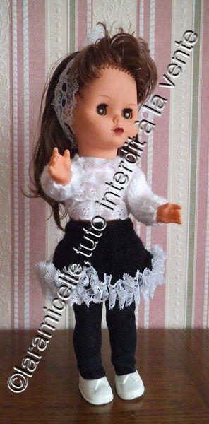 tuto gratuit poupée: jupe à dentelle