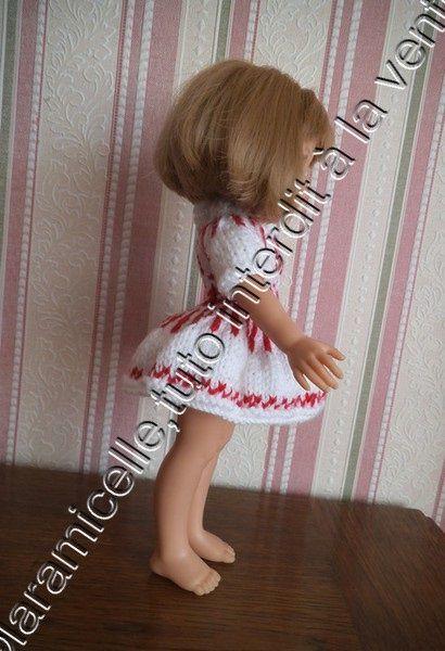 tuto gratuit poupée: robe jacquard pour l'hiver
