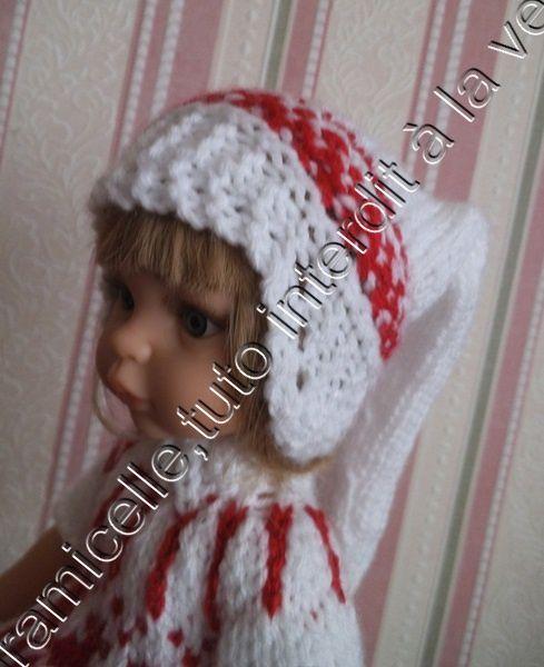 tuto gratuit poupée : bonnet de lutin   très long