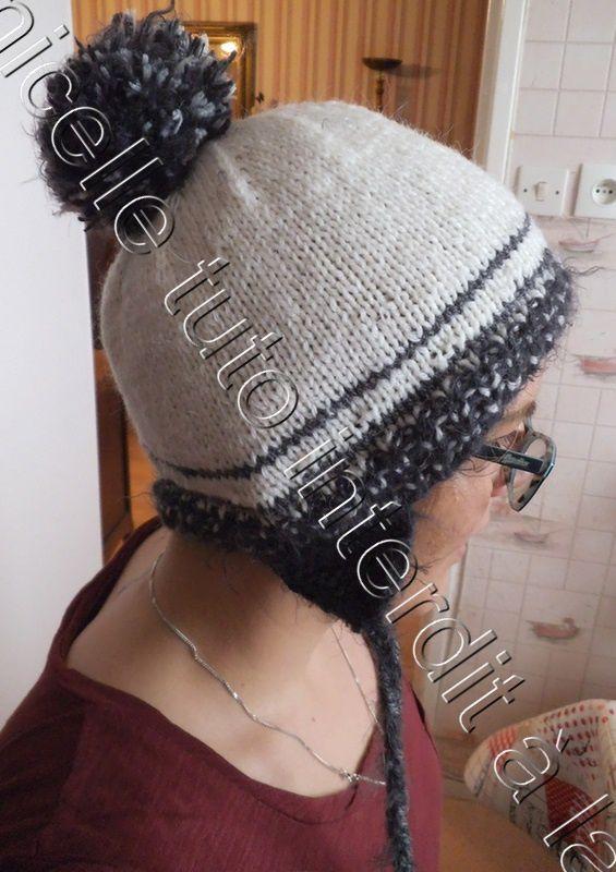tuto gratuit bonnet à nattes pour femme - Chez Laramicelle 7d9176ca99e