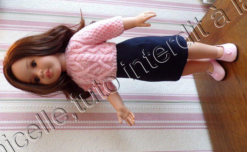 tuto gratuit poupée : pull irlandais - Chez Laramicelle