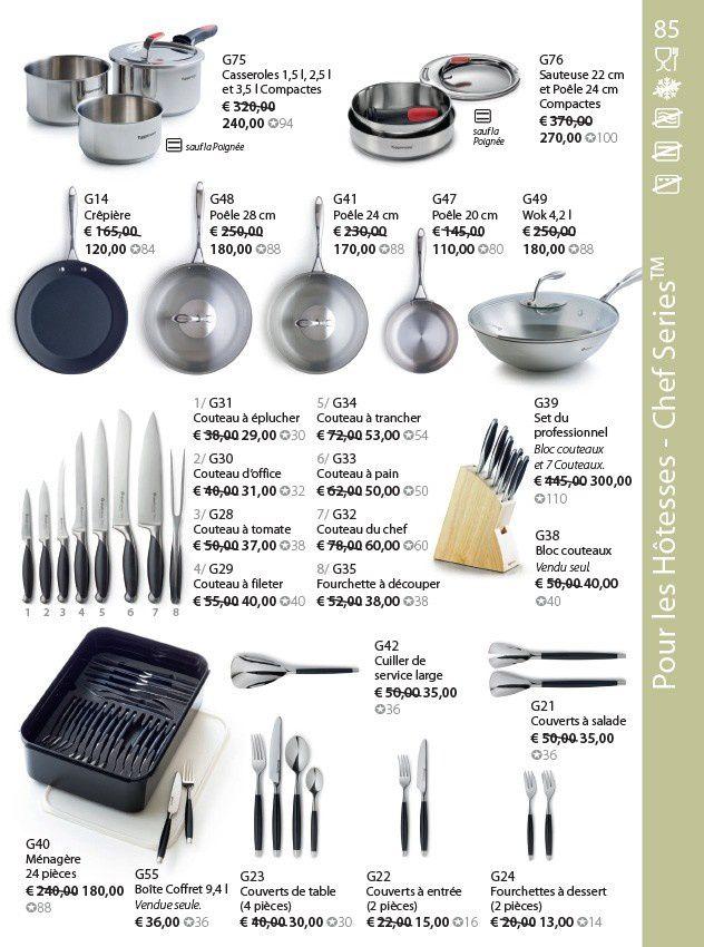 Batterie de cuisine pages 84 et 85 du catalogue Automne/Hiver 2012/2013