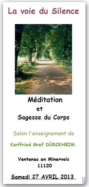 Méditation et sagesse du corps hors les murs