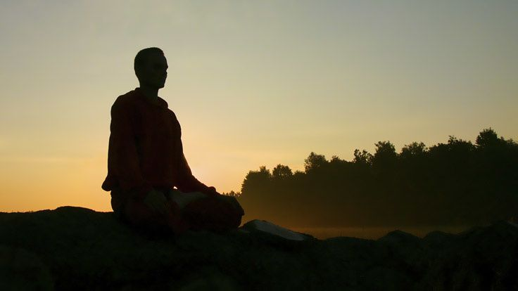 Méditation à l'abbaye d'Orval