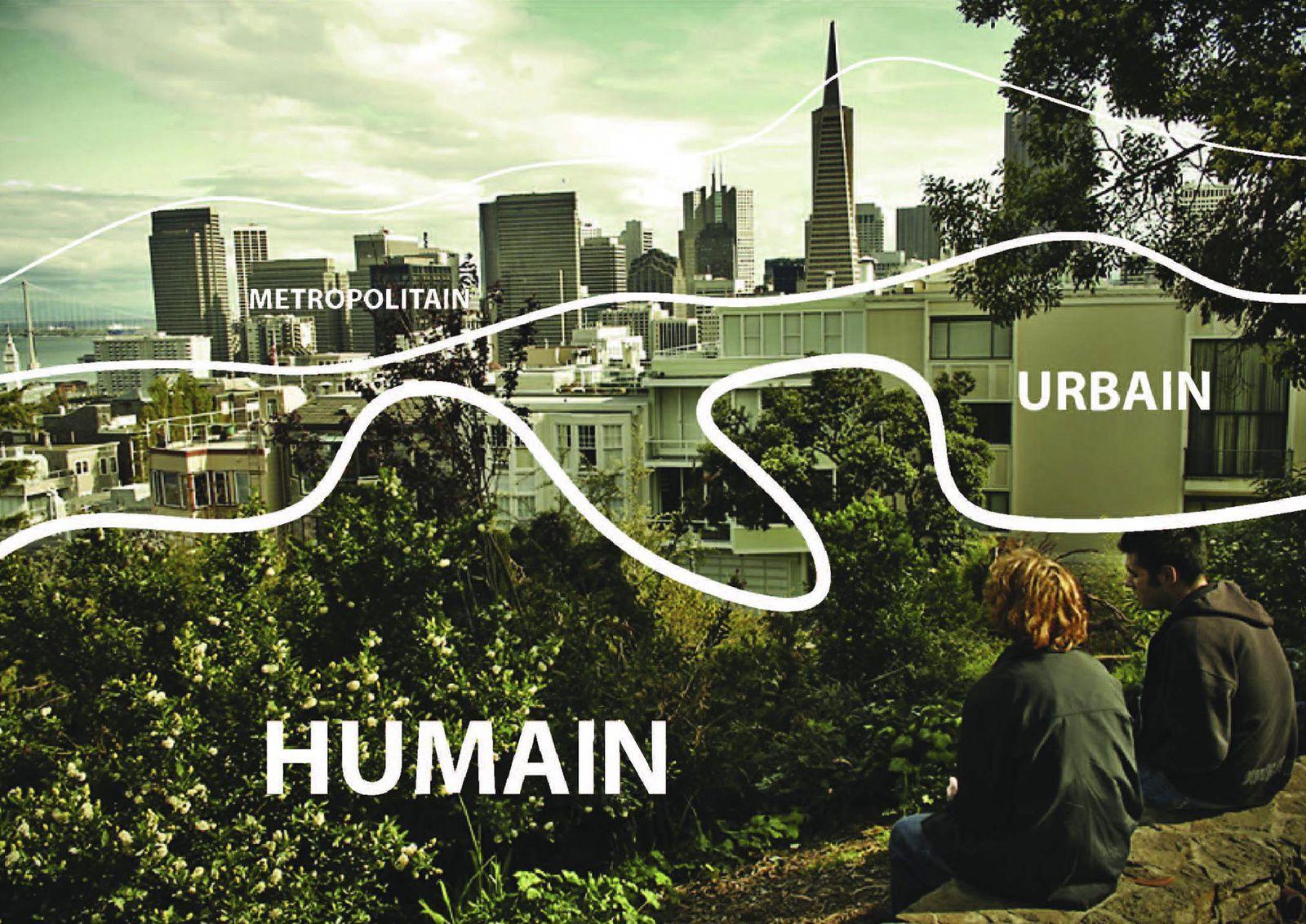Eco-urbanisme : les trois échelles. Illustration Archikubik. DR.