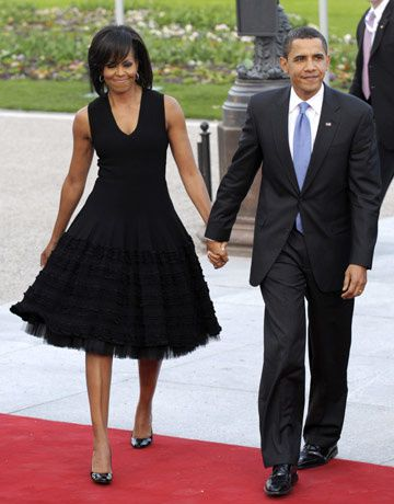Michelle Obama en robe Alaia.