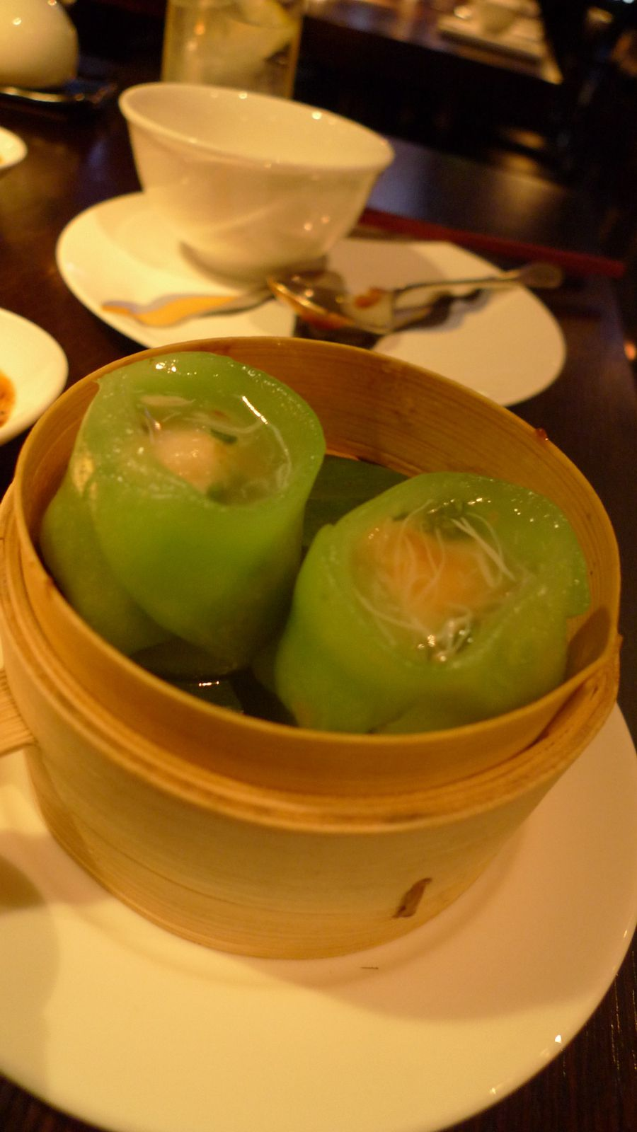 Chinese chive and prawn dumpling