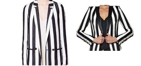 ZARA LEFT VS BALMAIN RIGHT