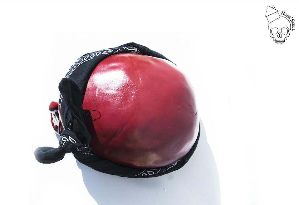 Tête de mort, Vanité, Skull Pop Art Calaveras Rojo N°42 &lt&#x3B; VENDU &gt&#x3B;