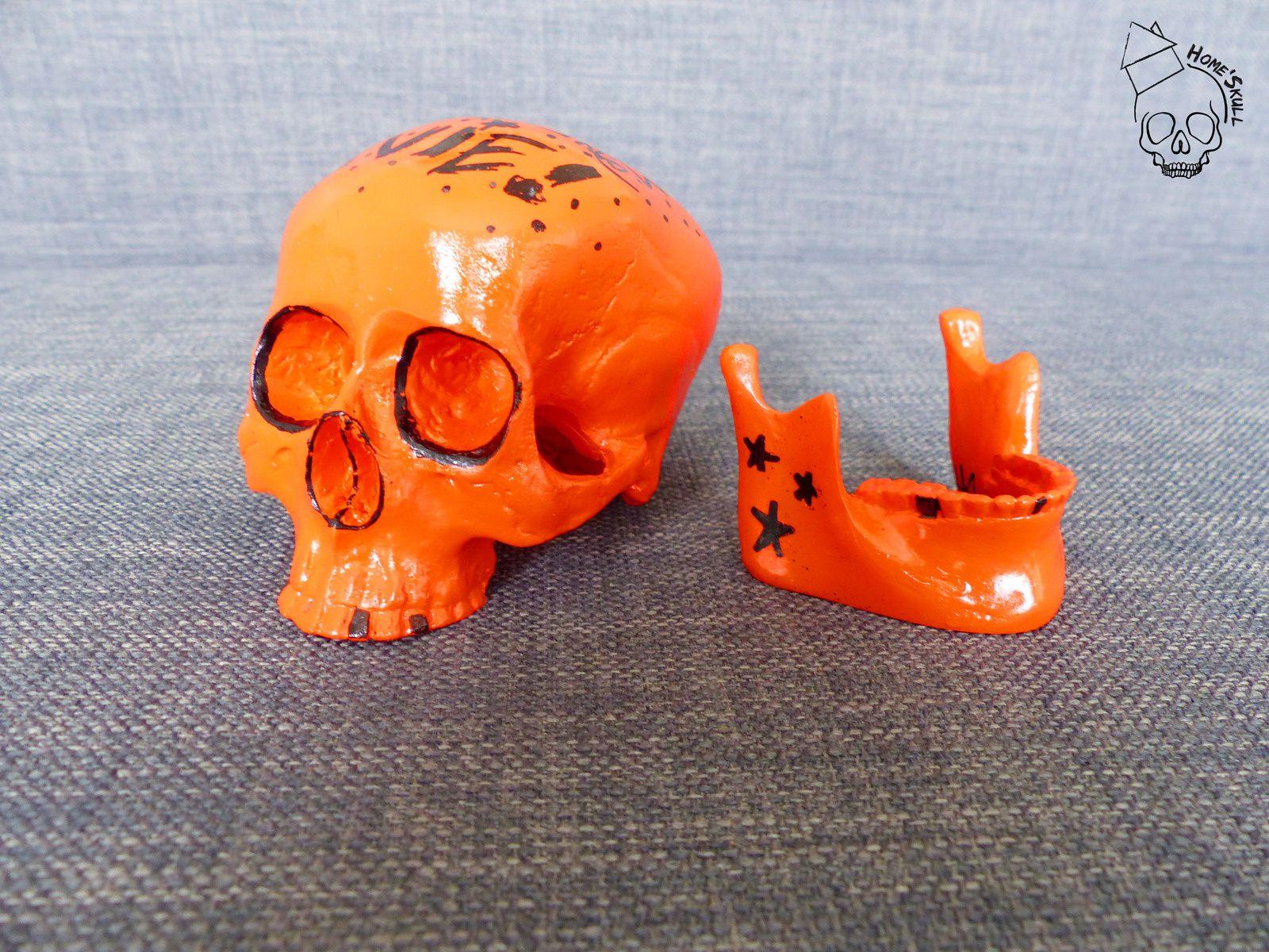 Home'Skull Tête de mort, vanité, crâne, Skull Small NOUVELLE COLLECTION &quot&#x3B; Et puis merde on a qu'une vie ! &quot&#x3B; N°2