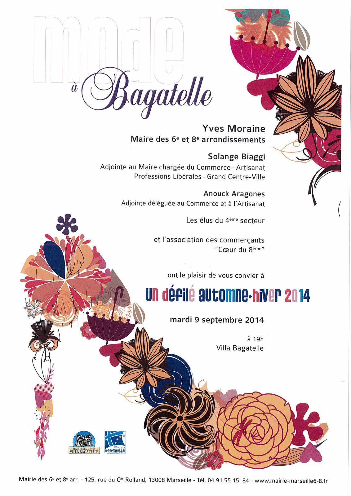 Invitation au défilé de mode à Bagatelle