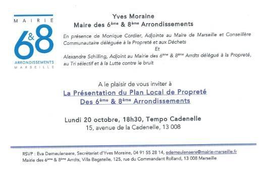Invitation à la présentation du Plan Local de Propreté