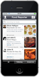 Application iPhone FoodReporter v1.1