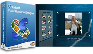 This is just the preliminary interface of Kvisof Flash Slideshow Designer.