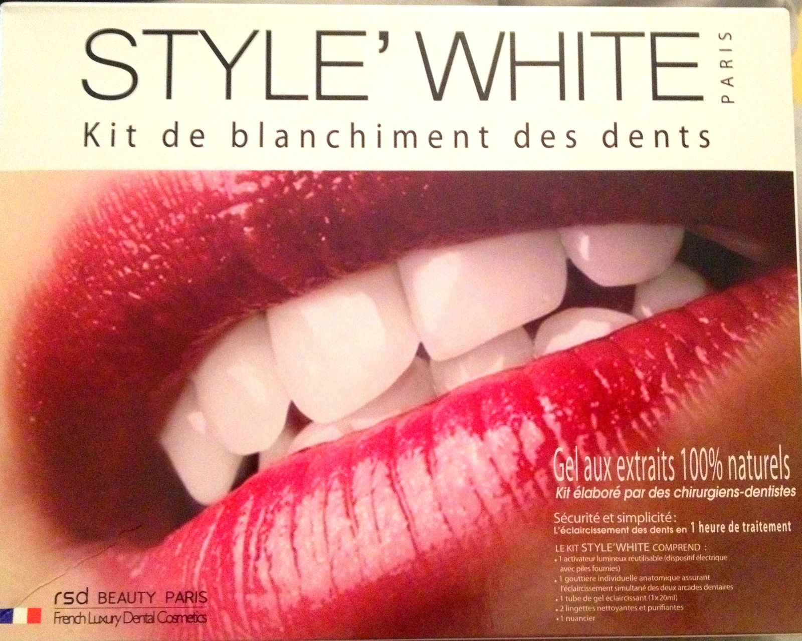 kit blanchiment des dents i white