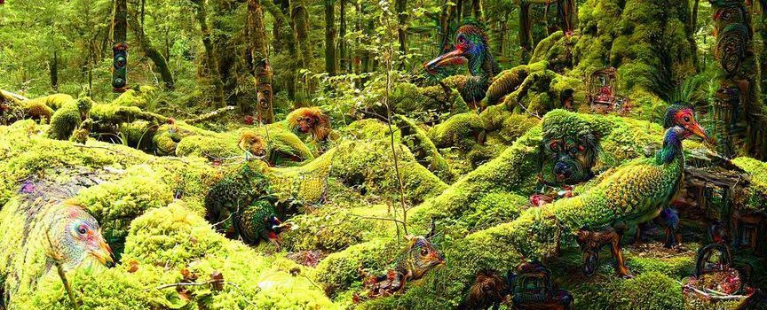 Une forêt, vue par Deep Dream. Joan Campderros-i-Canas/CC BY 2.0 En savoir plus sur http://www.lemonde.fr/pixels/article/2015/07/24/comment-le-deep-learning-revolutionne-l-intelligence-artificielle_4695929_4408996.html#TQs7IMxBS532BjZF.99