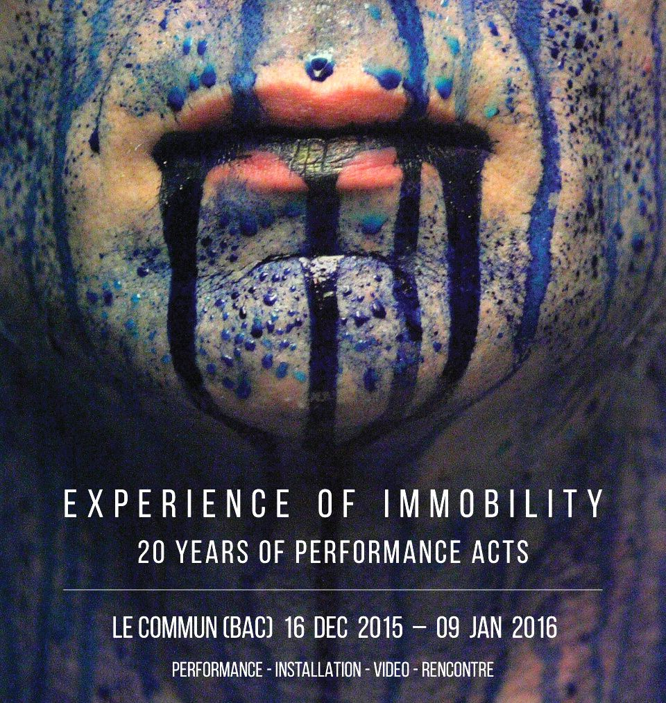 EXPERIENCE OF IMMOBILITY - une exposition performative entre danse, performance et installation