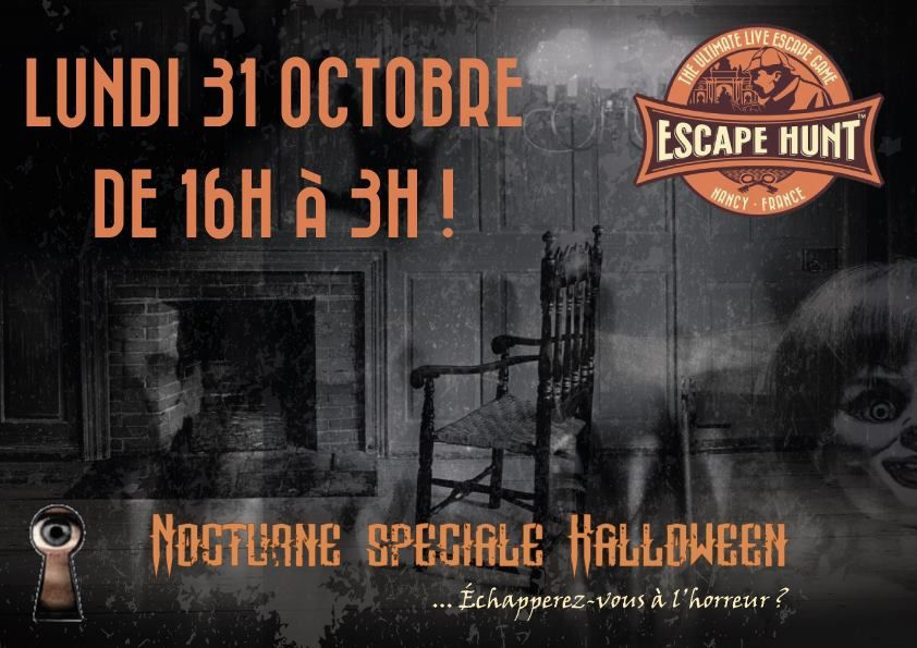 The Escape Hunt Experience Nancy, spécial Halloween