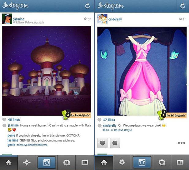 People news : Les princesses Instragramment