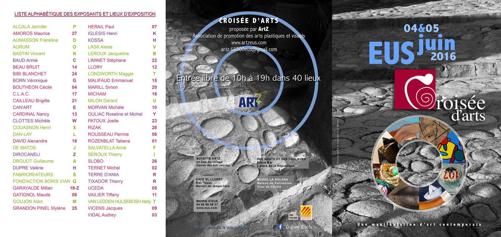 Croisée d'arts 2016 - Le plan des expositions