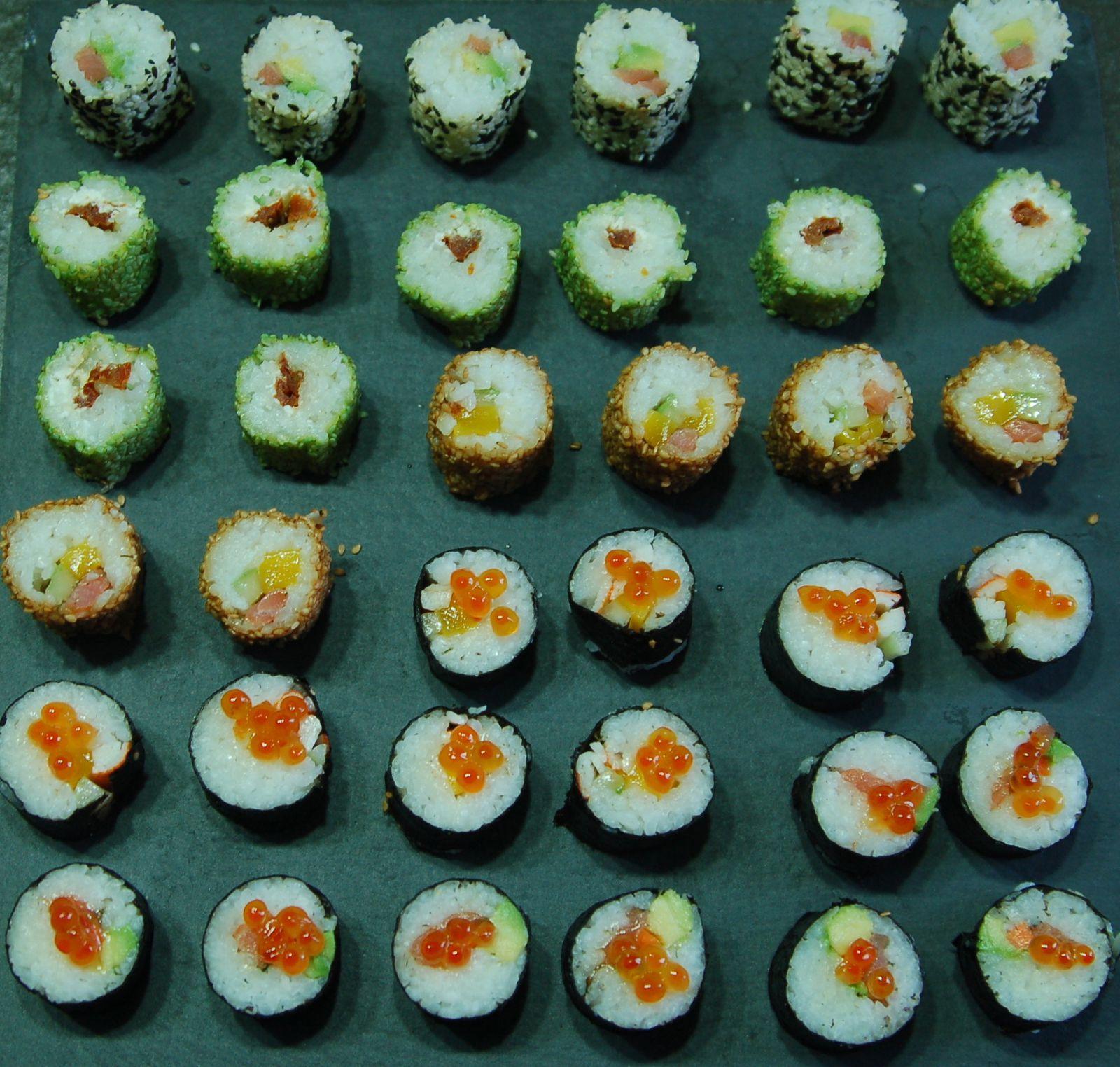 petite précision : je n'ai pas faits ceux avec de l'ail frit sur la dernière photo des sushis