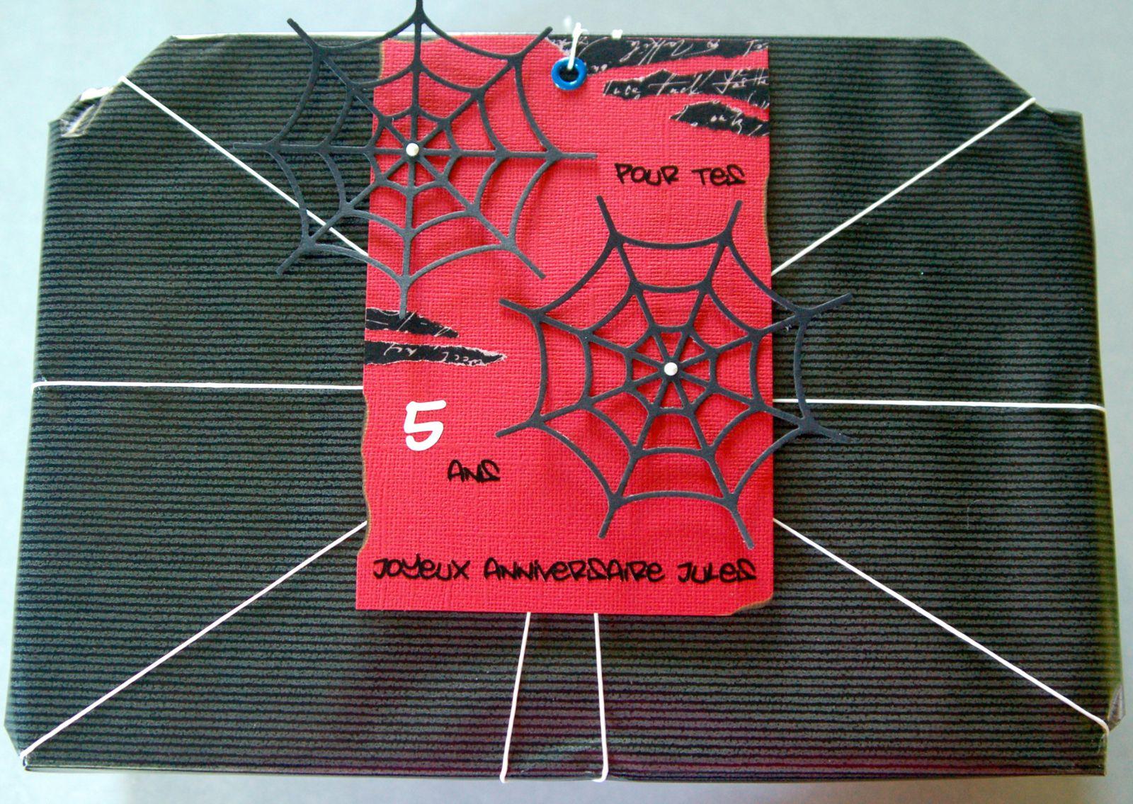 Carte d'anniversaire Spiderman