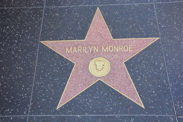 The Walk of Fame sur Hollywood Boulevard