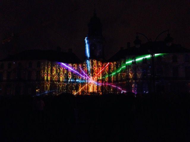Les illuminations de la mairie de Rennes