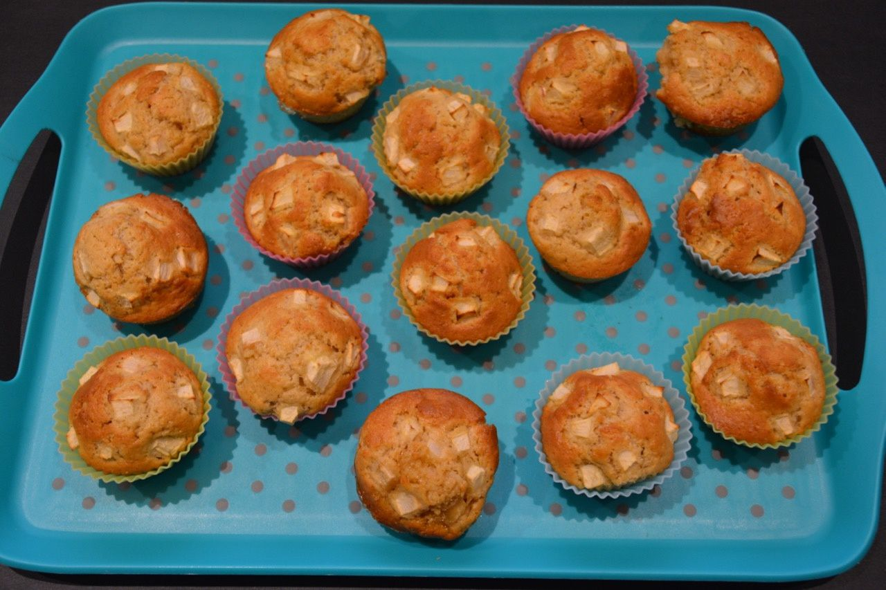 Des muffins pomme-cannelle
