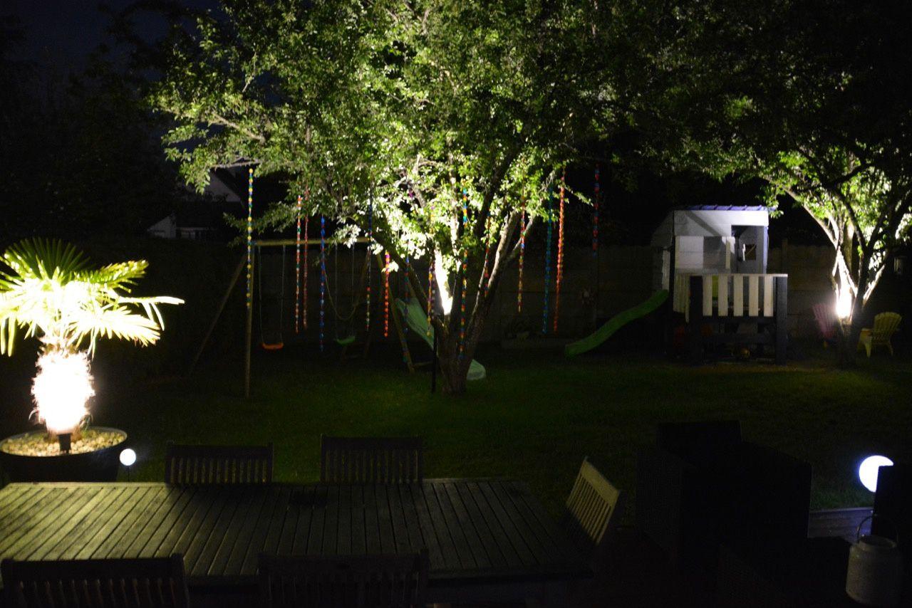 Nouveaux éclairages dans le jardin