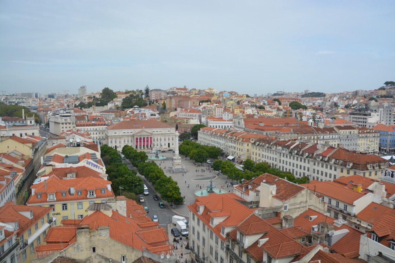 vue depuis le haut de l'élévator de Santa Justa