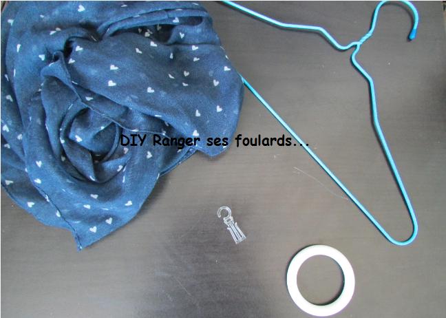 DIY - Ranger facilement ses foulards.