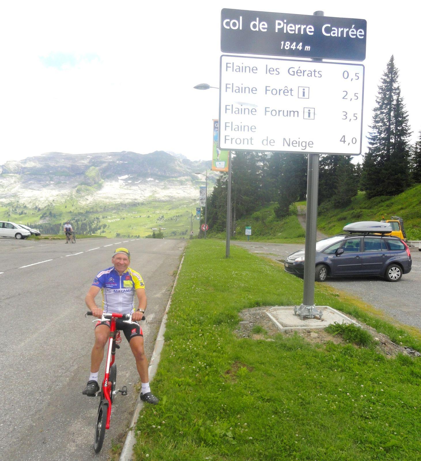 Mes ascensions réussies depuis 2008 .L'Alpe d'Huez par 3 fois , le Mont Ventoux 2 fois , le col des Saisies , le col des Aravis , les Ménuires , le col du Berthiand , le col de Pierre Carrée , la montée de Vaudagne ,lors de la houch'hard ,  la montée de Couchevel , la grimpée de la Côte 2000 , lors de la course . ..