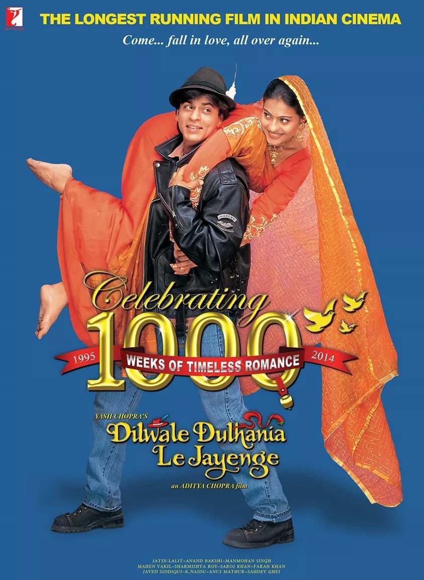 ♥ SPECIAL 1000 WEEKS OF ROMANCE - DILWALE DULHANIA LE  JAYENGE ♥