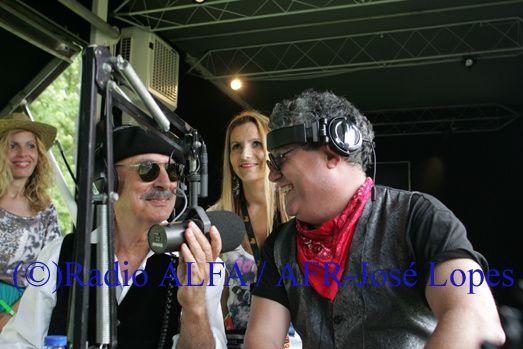 Tim e os Companheiros de Aventura na Festa da Radio ALFA e dos Santos Populares