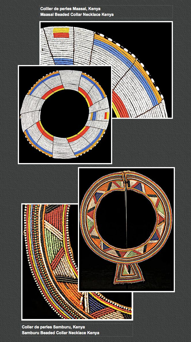 Colliers de perles Maasai et Samburu, Kenya / Maasai and Samburu Beaded Collar Necklace Kenya