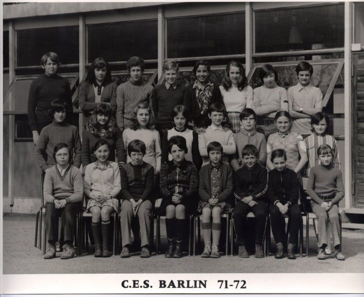 Photo de classe CES de Barlin 71-72
