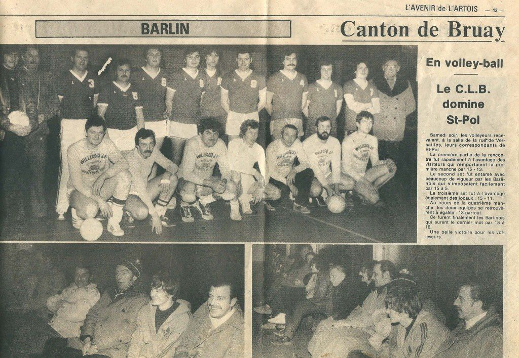 Le club de volley ball du Cercle Laïque de Barlin