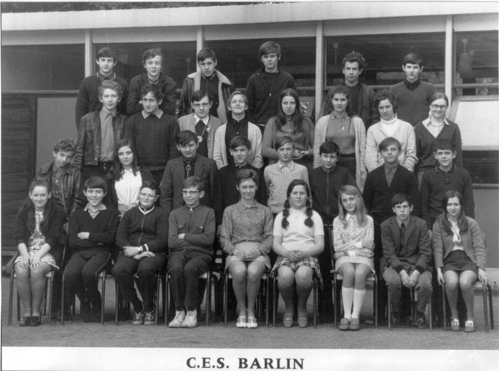 Une photo de classe au CES de Barlin