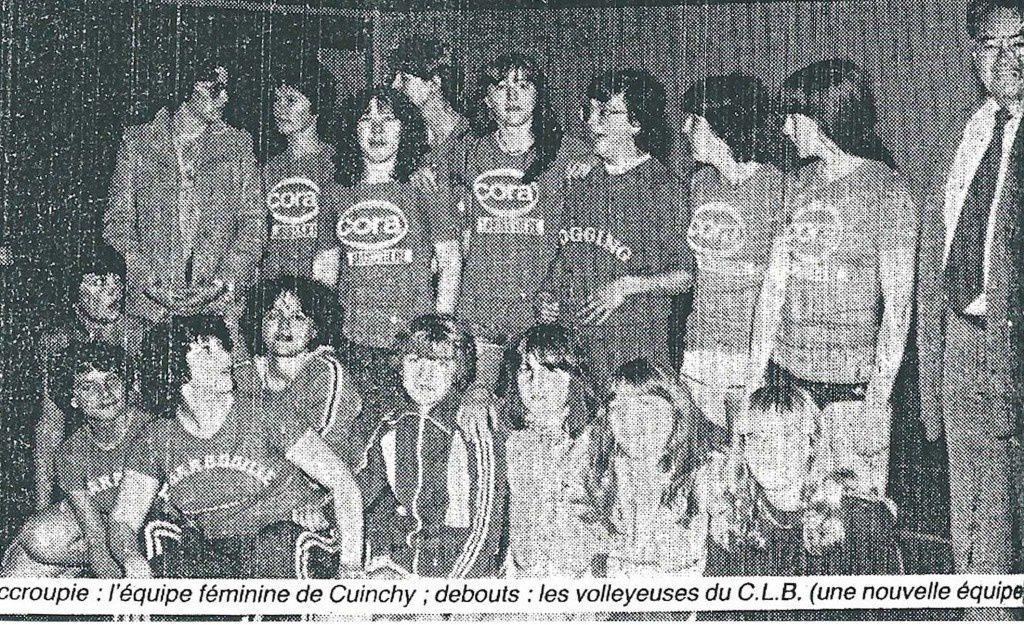 Debout, l'équipe des féminines de Barlin qui évoluait en championnat UFOLEP