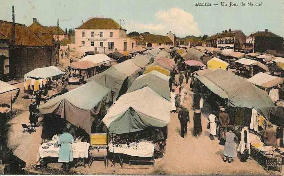 Le marché de Barlin aux alentours des années 40.