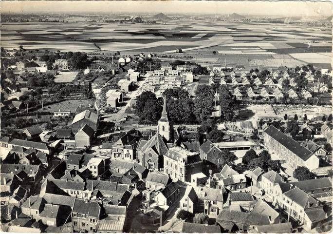 Vue aérienne du centre ville de Barlin