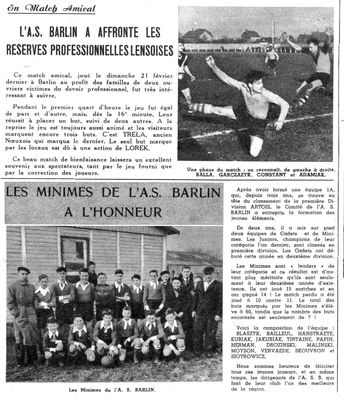 AS Barlin en 1954