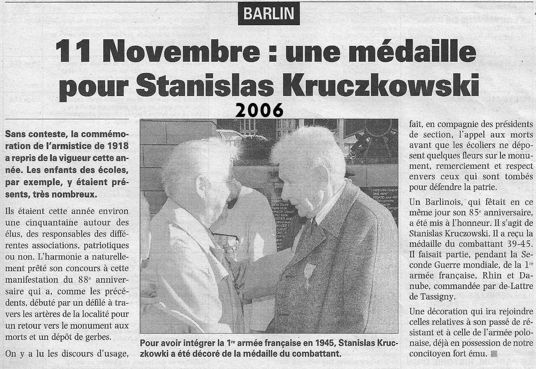 Hommage à Stanislas Kruczkowski